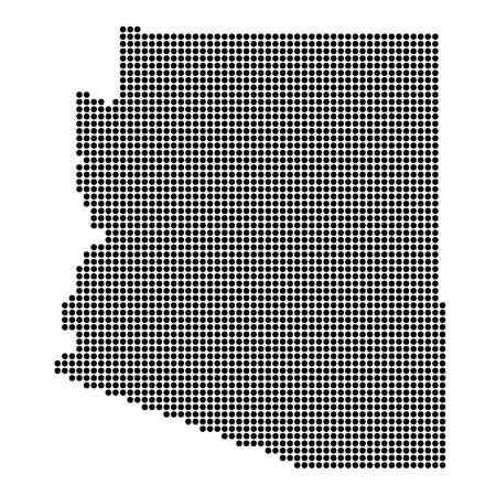 Arizona (USA) State Black Dotted Concept Map