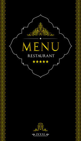 Menu cover design for oriental restaurant.