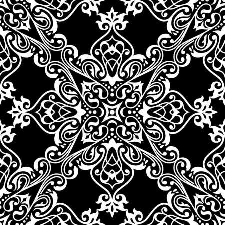 Traditional damask seamless pattern.Arabic ornament