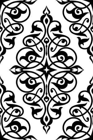 Decorative element eastern pattern. Seamless. Damask ornament.