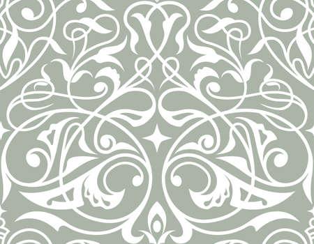 Damask seamless ornament. Traditional damask seamless pattern.