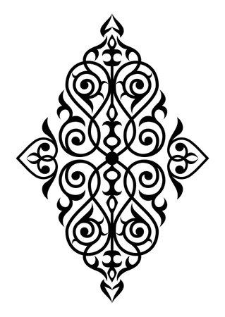 Traditional damask pattern.Decorative element eastern pattern
