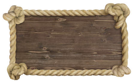 bright wood boards with a rope frame