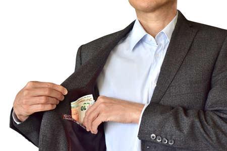 cashback money bribing corrupt plugging bill euro Stock Photo