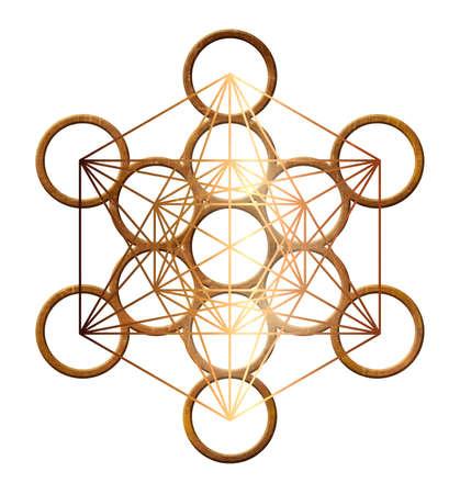 cubo metatron geometria oro santo rame platonico