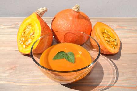 pumpkin soup hokkaido kuerbis vegetables vegetable healthy 写真素材