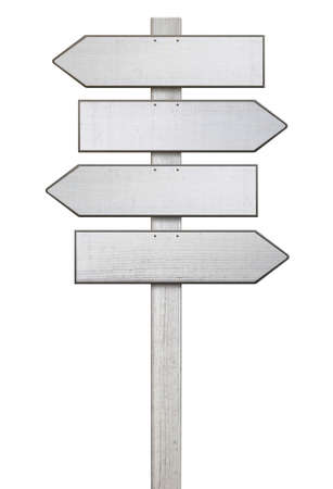 signpost shield different paths directions to decide Stock Photo