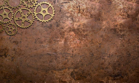 gears background copper brass nostalgic rustic clockwork tooth