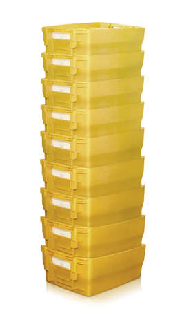 mailboxes many pile row stack postal german yellow container
