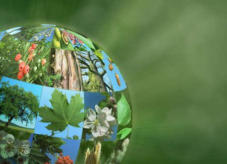 planet globe nature green eco ecological natural 3d illustration