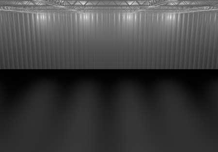 hall truss stage music singer theater 3d illustration