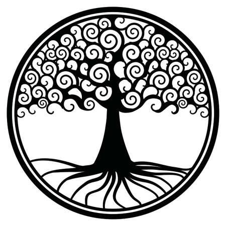 goud glinsterende wereld boom leven boom vruchtbaarheid heksen