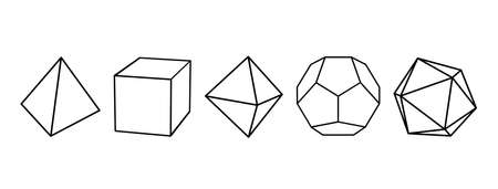 regular convex polyhedron that stand for elements