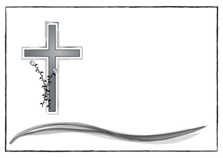 Layout for a mourning display in vectors Illustration
