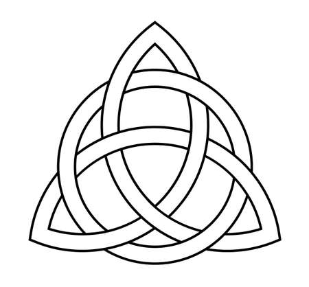 trigurtas celtic knot sign in middle ages  イラスト・ベクター素材
