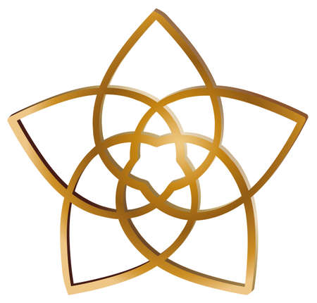 venus, flower, golden, cut, golden cut, vector, isolated, mantra, tracks, dance  イラスト・ベクター素材