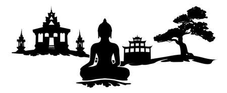 wall decal buddha buddhism tatoo wall sticker