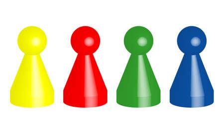 ludo brettspiel person männlich steine figur spielen Vektorgrafik