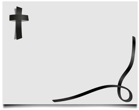 death dying annunciation grave grief cross vector funeral