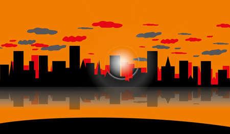 skyscraper vector retro background pattern desktop business Ilustração