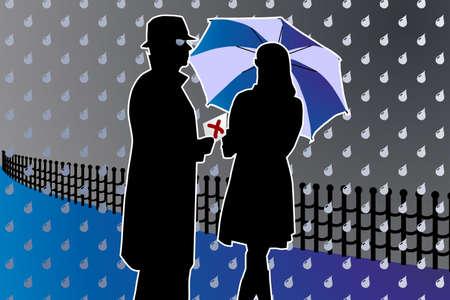 silhouette informat secret agent meeting point thriller
