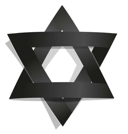 salomon star david seal jews jewish hexagram Ilustração