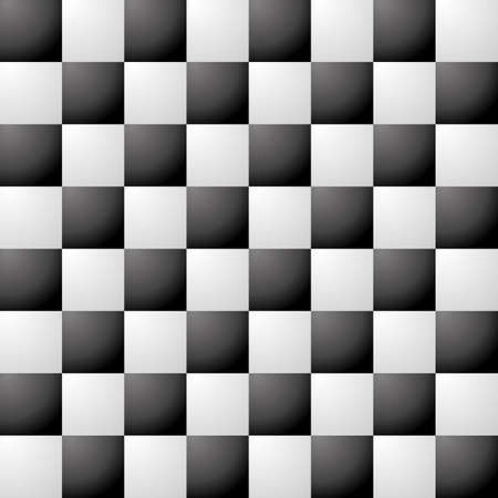 Chess pieces vector in 3D optics black and white