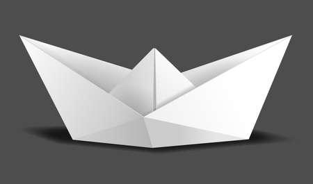 origami paper ship as vector boat water Ilustração
