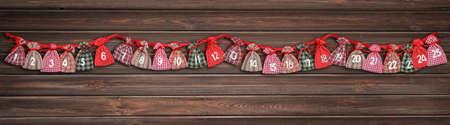 advent calendar bag chimney couloir cupboard shelf Imagens