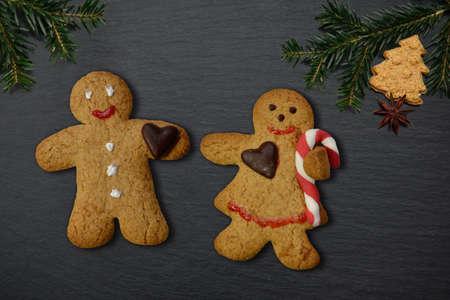 gingerbread man male little man merry christmas