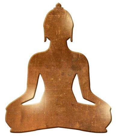 buddha silhouette gold black buddhism meditate hinduism