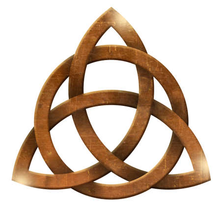 trigurtas celtic knot sign in middle ages 免版税图像