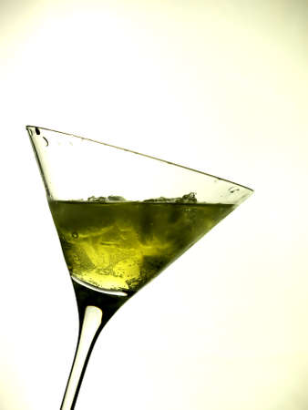 lounge bar: Cocktail green Stock Photo