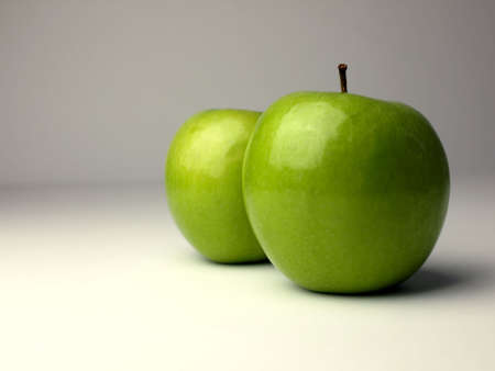 Two green apples photo