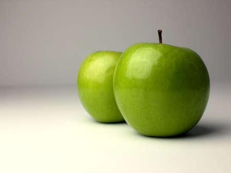 nourishment: Two green apples