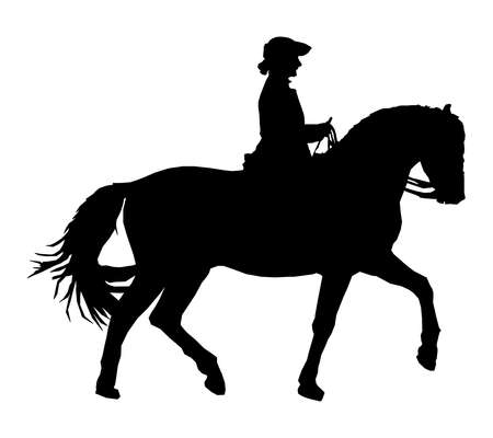 Silhouette of a riding woman Stock Photo - 7920418