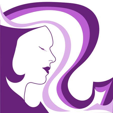Fashion girl in violet