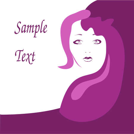 Beautiful face of a woman Vector