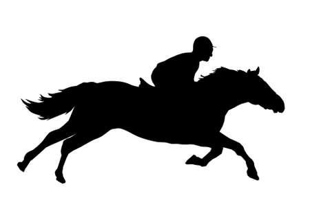 Illustration of a jockey Vector