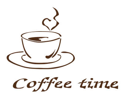 coffeetime: Illustration of a cup of coffee