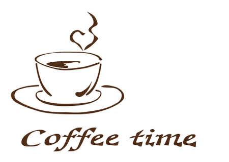 Illustrazione di una tazza di caff� Vettoriali