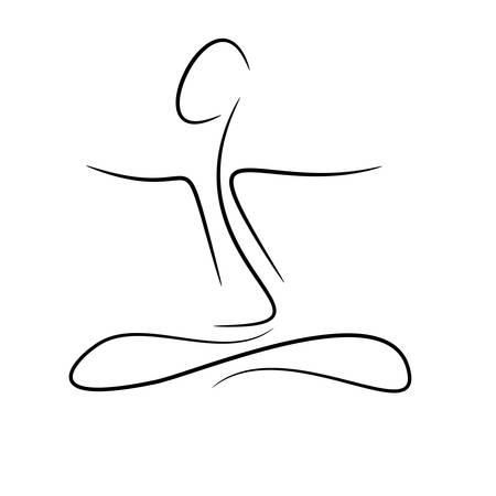 サイレント: 抽象的なシルエットとウェルネスの背景