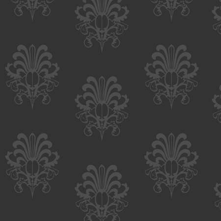 wallpaper: Wallpaper with classic seamless ornament in black  Illustration
