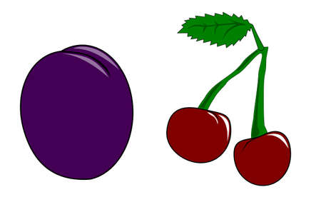Cherry and plum