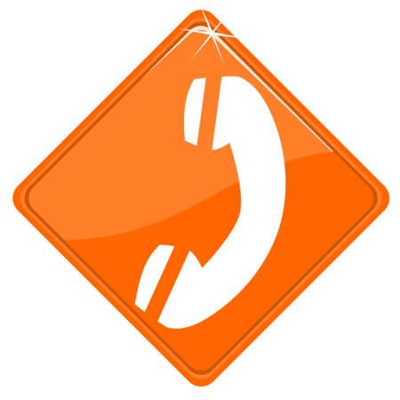 hotline: Orange unterzeichnen mit Hotline icon