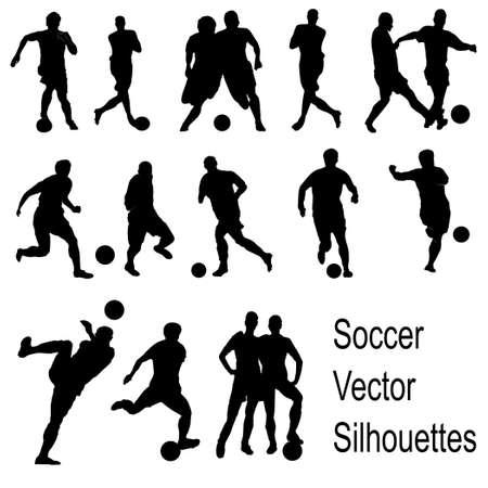 Abbildung der Fußball spielen