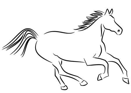 Esecuzione di cavallo Vettoriali
