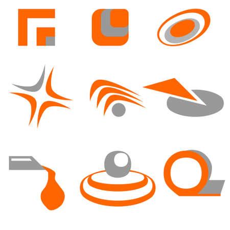 Orange icon using as design elements Stock fotó - 9178992