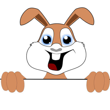 Happy Easter, Illustration of a cheerful bunny