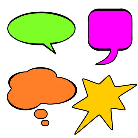 Colorful speech bubbles on white Stock Vector - 9178995